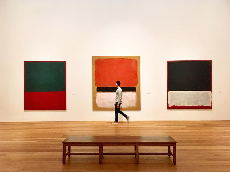 @cruisinpanda - Mark Rothko paintings at the National Gallery of Art East Building - Free modern art museum in Washington, DC