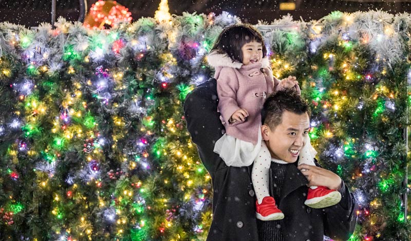 Father and Daughter at Enchant Christmas - Reasons to Experience Enchant