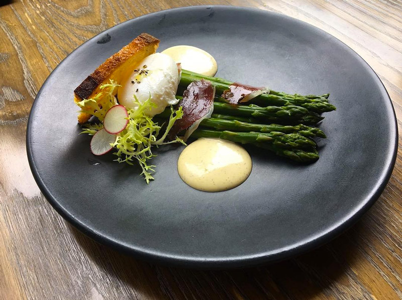 @dbgbdc - Asparagus salad at DBGB Kitchen and Bar in CityCenterDC - French Cuisine in Washington, DC