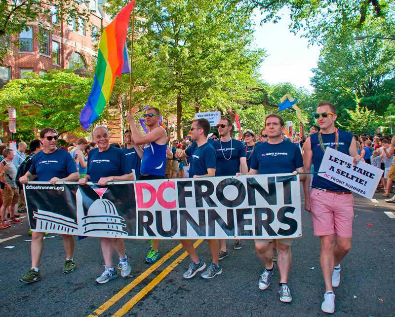 DC Front Runners marching in the Capital Pride Parade - LGBTQ+ organizations in Washington, DC