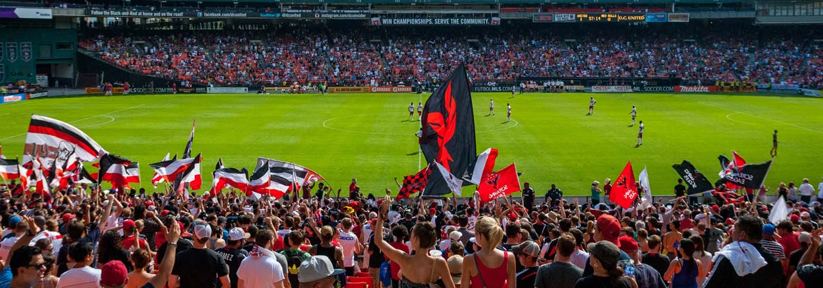 DC United Crowd at RFK Stadium
