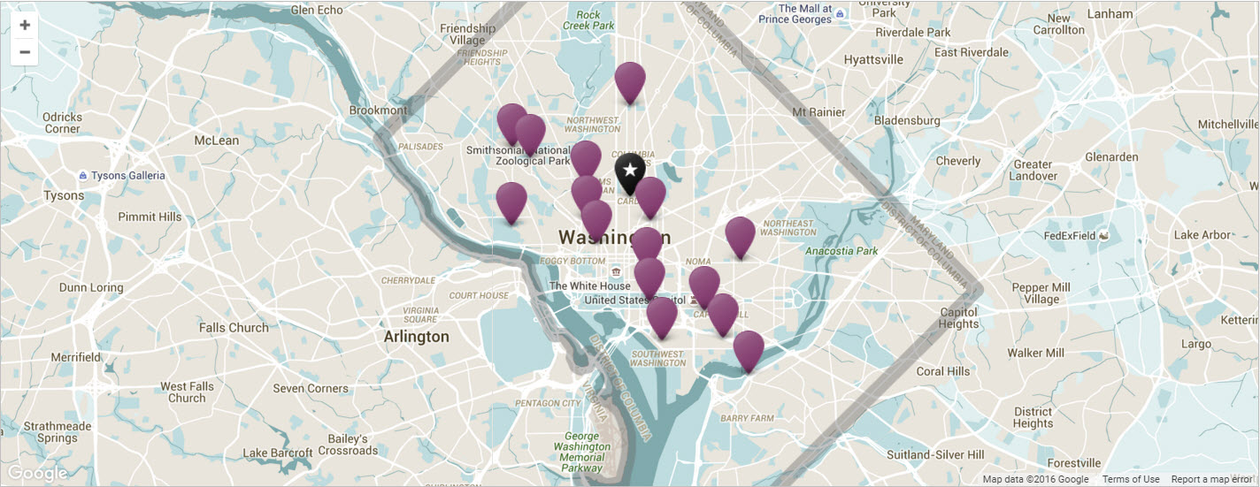 Washington DC Neighborhoods Washingto – Map Of Tourist Attractions In Washington Dc