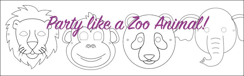 Zoo Masks Activity