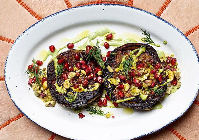 @deblindsey - Charred eggplant at Sababa restaurant in Upper Northwest - Ashok Bajaj restaurant in Washington, DC