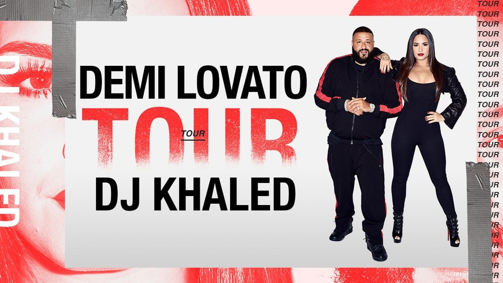 Demi Lovato and DJ Khaled at Capital One Arena - Concert in Washington, DC