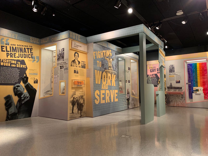 Stonewall and the LGBTQ Rights Movement exhibit at the Newseum - Museum exhibit in Washington, DC