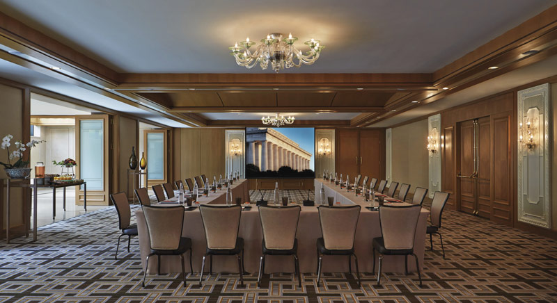 Meeting space with natural light at the Four Seasons Hotel in Georgetown - Event and meeting space in Washington, DC