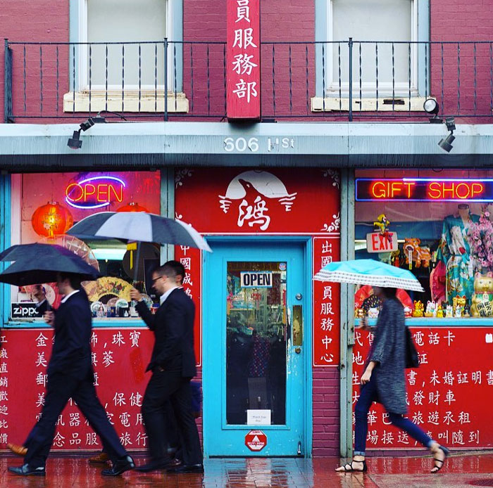 @ellievanhoutte - Rainy day in Chinatown - Washington, DC