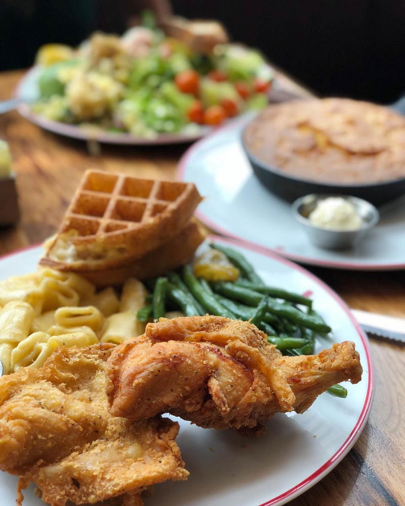 @elsielovesfood - Fried chicken and waffles from Founding Farmers restaurant - Farm-to-table restaurant in Washington, DC