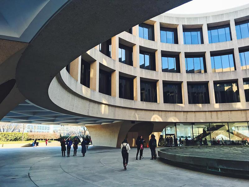 @emilygoesplaces - Smithsonian Hirshhorn Museum and Sculpture Garden plaza - Free modern art museum in Washington, DC