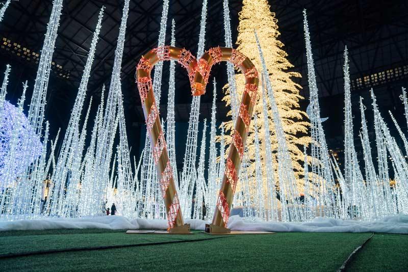 Christmas tree at Enchant Christmas event at Nationals Park in Washington, DC