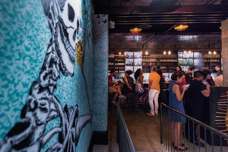 Oaxacan mural at Espita Mezcaleria restaurant in Shaw - Popular restaurant in Washington, DC's Shaw neighborhood