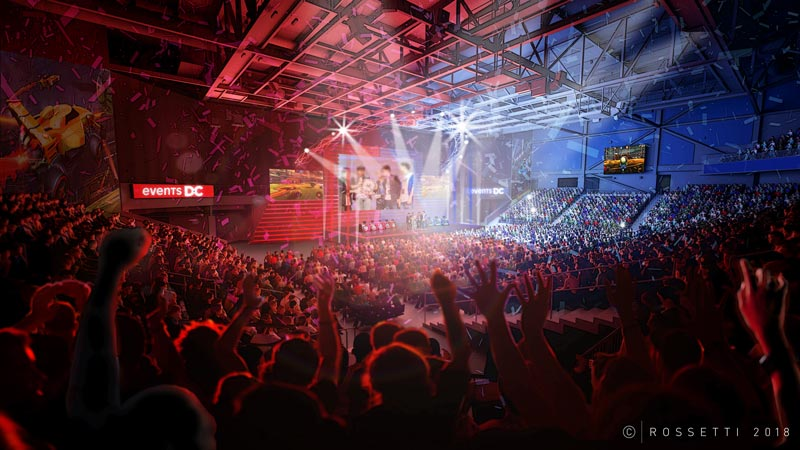eSports event at the Entertainment and Sports Arena in Congress Heights - Concert, sports and events venue in Washington, DC