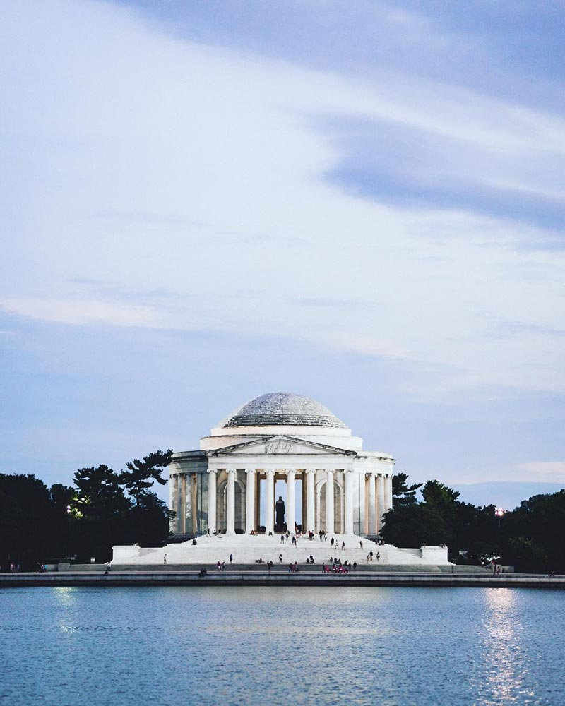 @evansevilla - Summer evening at the Jefferson Memorial - Free things to do in Washington, DC