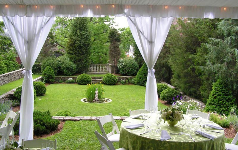 Dinner in the private garden at the President Woodrow Wilson House - Intimate dining spots in Washington, DC