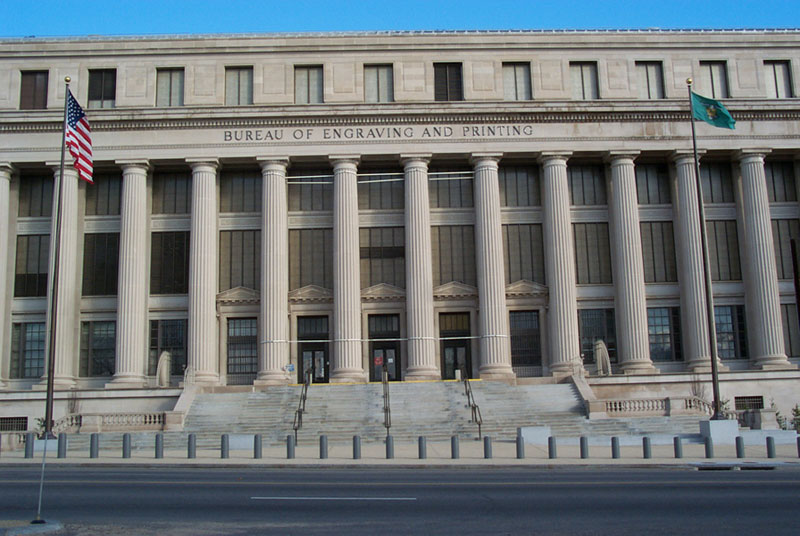 Exterior of the Bureau of Engraving and Printing in Washington, DC - Free things to do in DC