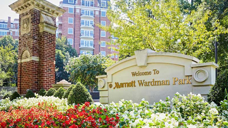 The historic Washington Marriott Wardman Park hotel - Largest hotel in Washington, DC