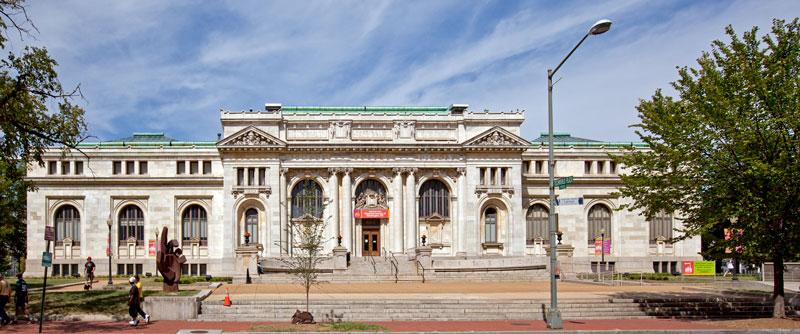 The historic Carnegie Library in Mount Vernon Square - Landmark in Washington, DC