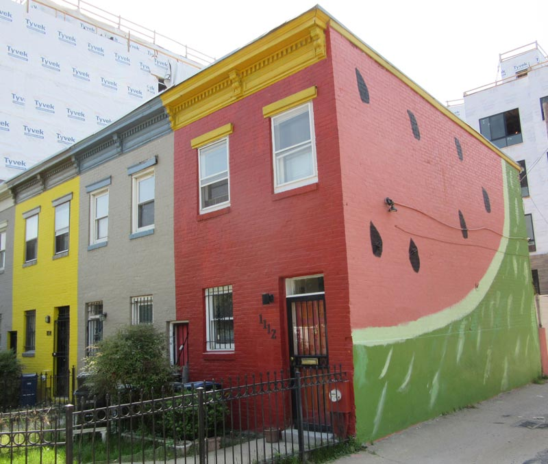 The Watermelon House on Q Street near Logan Circle - Instagrammable places in Washington, DC