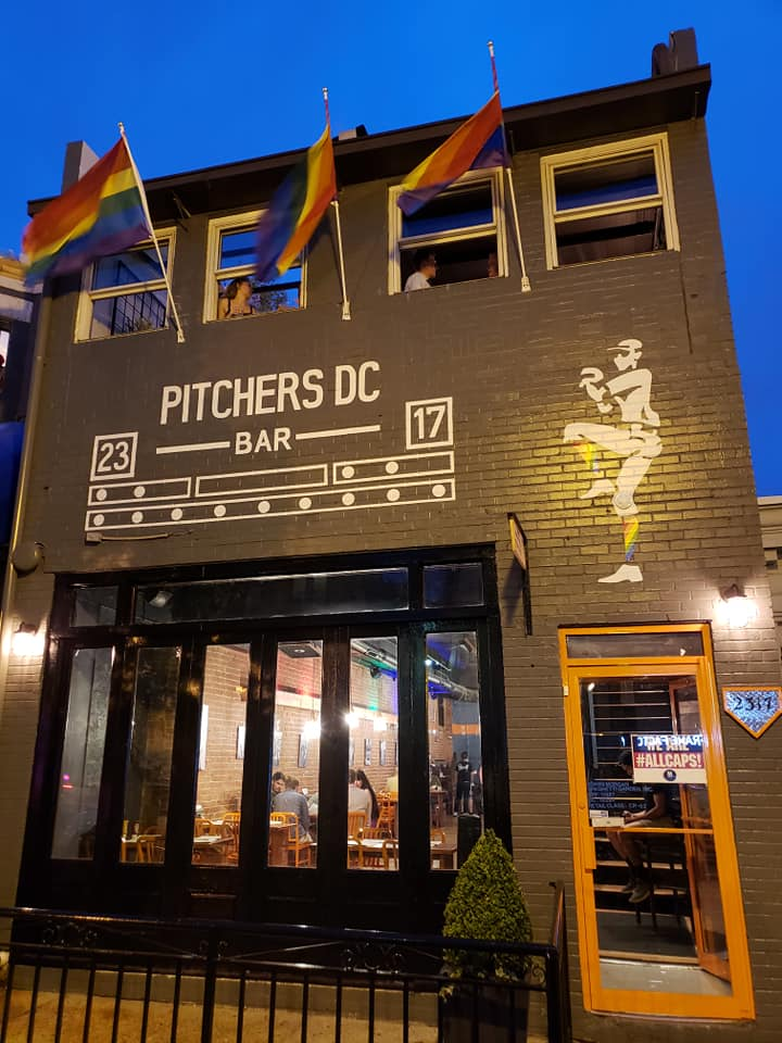 Outside of Pitchers gay sports bar in Adams Morgan - The best LGBTQ bars in Washington, DC
