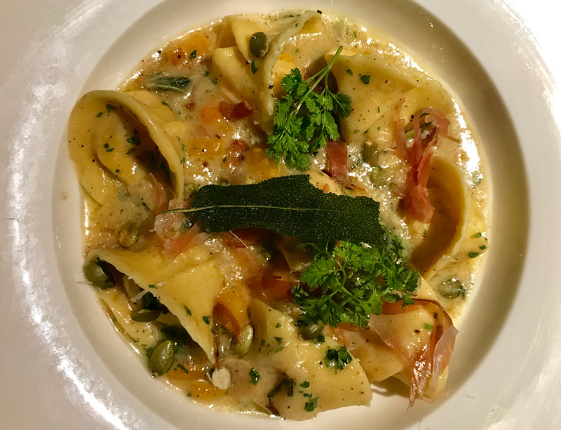 Fall agnolotti pasta dish from Urbana - Where to get pumpkin and other fall flavors in Washington, DC