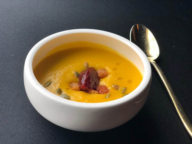 Fall pumpkin soup from Dirty Habit at the Kimpton Hotel Monaco - The best fall flavors at DC restaurants