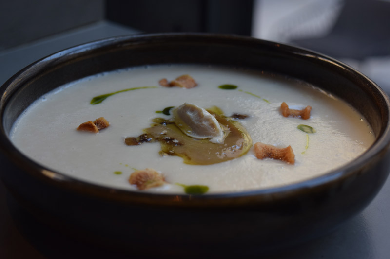 Salsify soup from Dirty Habit in Penn Quarter - Fall flavors at Washington, DC restaurants