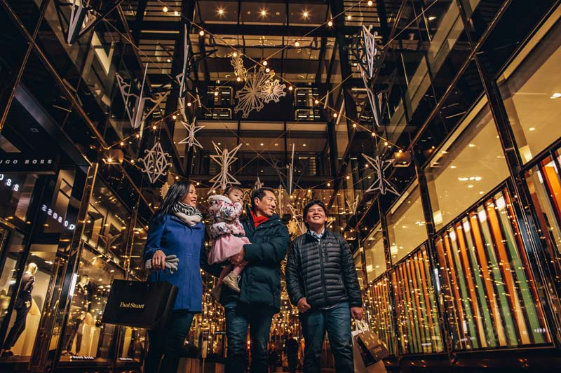 Family shopping at CityCenterDC - Where to go shopping during the holidays in Washington, DC