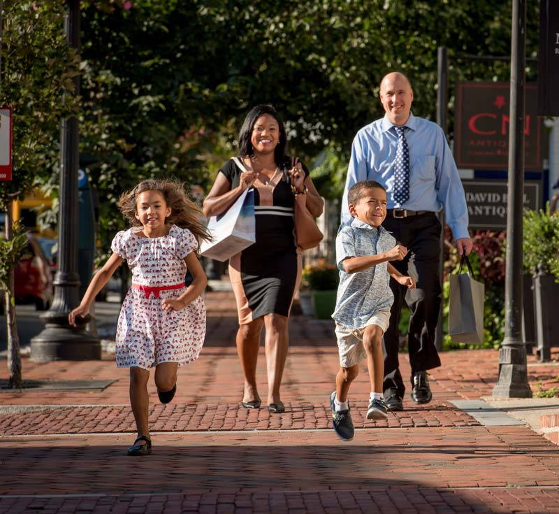 Family in Georgetown's Book Hill - The best things to do in DC's Georgetown neighborhood