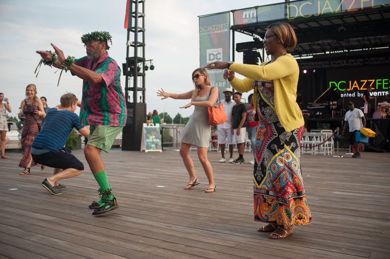 Dancing during a performance at the DC Jazz Festival - Things to do this summer in Washington, DC