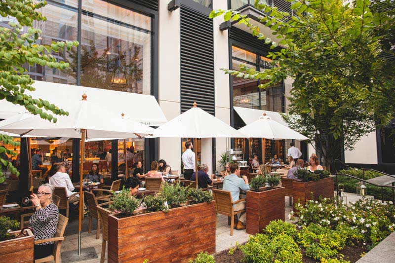 outdoor patio dining in washington dc fig and olive restaurant in citycenterdc - Restaurant Patio