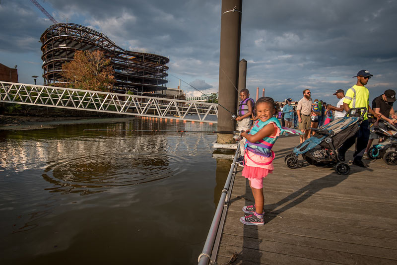 Friday night fishing on the Anacostia River in Capitol Riverfront - Free family-friendly outdoor activity in Washington, DC