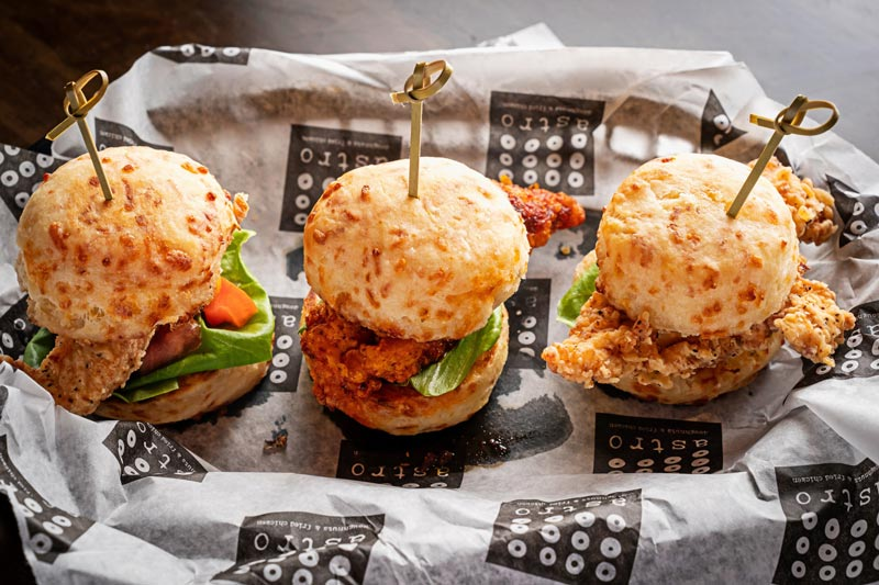 Fried chicken sliders from Astro Beer Hall in Downtown DC - Where to watch sports in Washington, DC