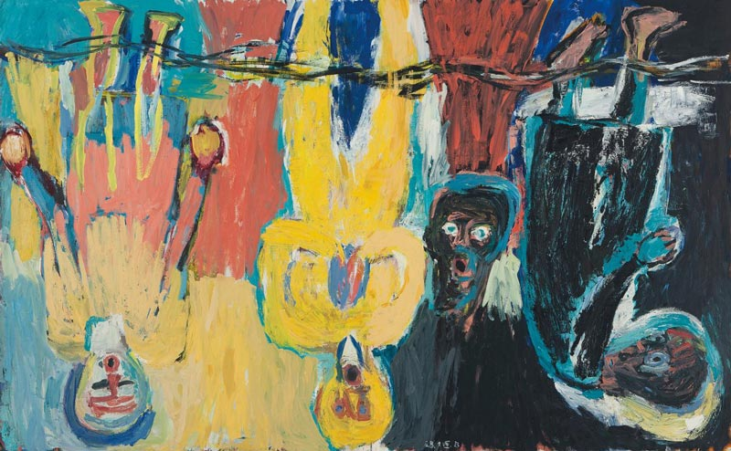 'Baselitz: Six Decades' - Free modern art exhibit at the Smithsonian Hirshhorn Museum on the National Mall in Washington, DC