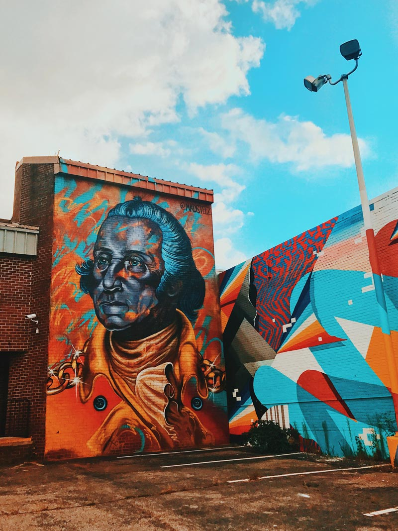 @_queendenise - George Washington street mural in NoMa near Union Market - Washington, DC