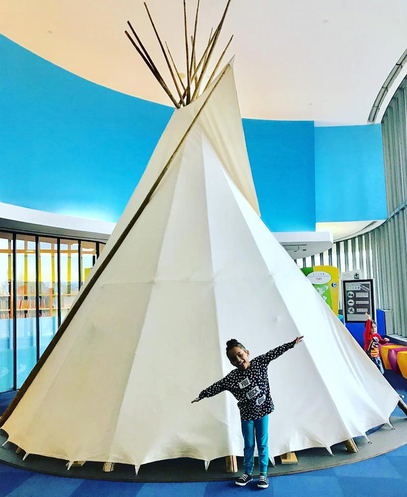 @ginablove1 - Child at Smithsonian National Museum of the American Indian on the National Mall - Free family-friendly museum in Washington, DC