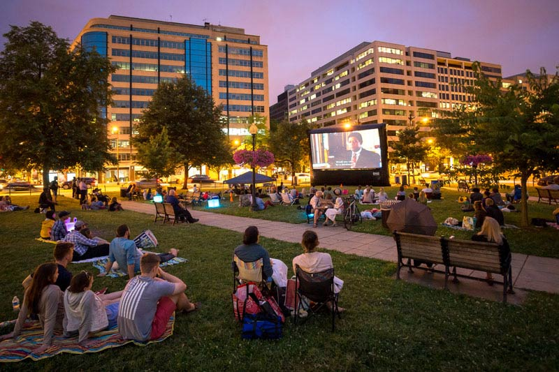 Golden Cinema in Farragut Park - Outdoor Summer Film Series in Downtown Washington, DC