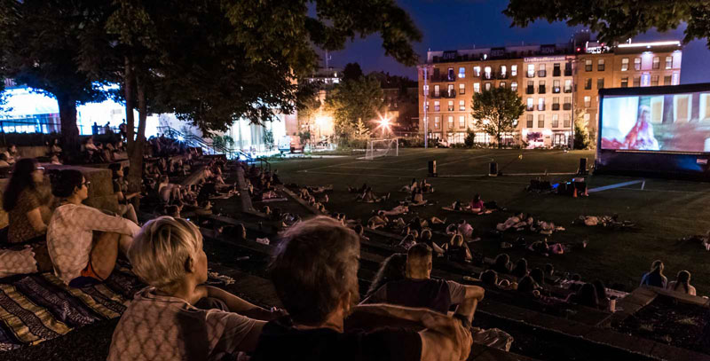 Where to enjoy an outdoor movie this summer in Washington, DC - Adams Morgan Movie Nights in DC's Adams Morgan neighborhood