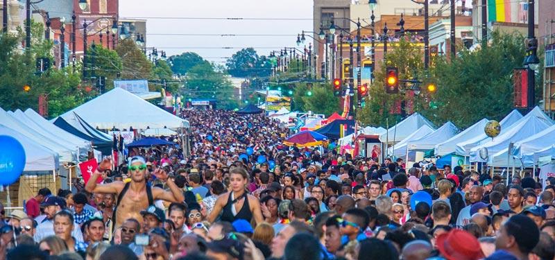 Crowd at H Street Festival in DC's H Street NE neighborhood - Fall festivals in Washington, DC