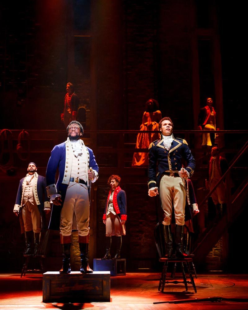 Lin-Manuel Miranda's off-Broadway 'Hamilton' at the John F. Kennedy Center for the Performing Arts in Washington, DC