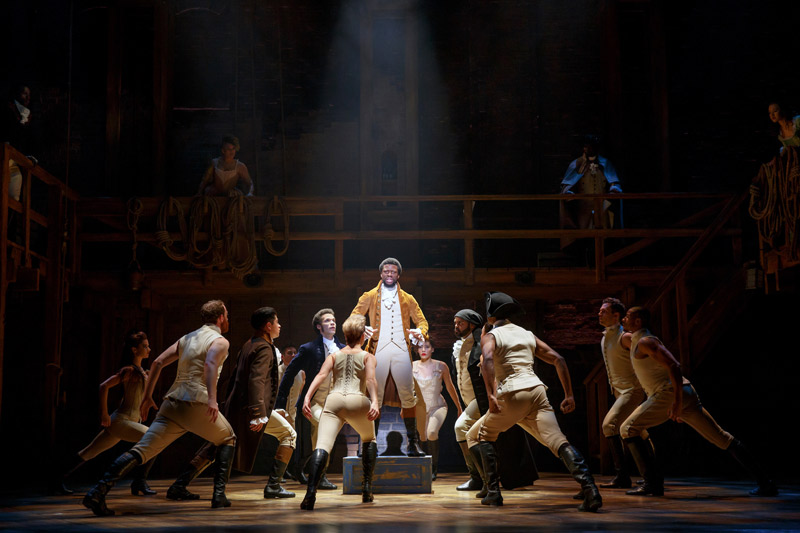 Lin-Manuel Miranda's Broadway smash 'Hamilton' - Theater at the Kennedy Center for the Performing Arts in Washington, DC