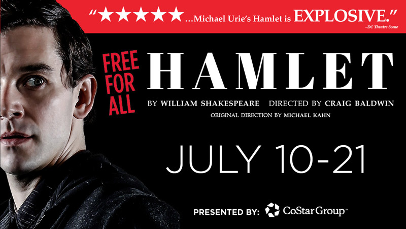 'Hamlet' Free For All at Shakespeare Theatre Company from July 10-21