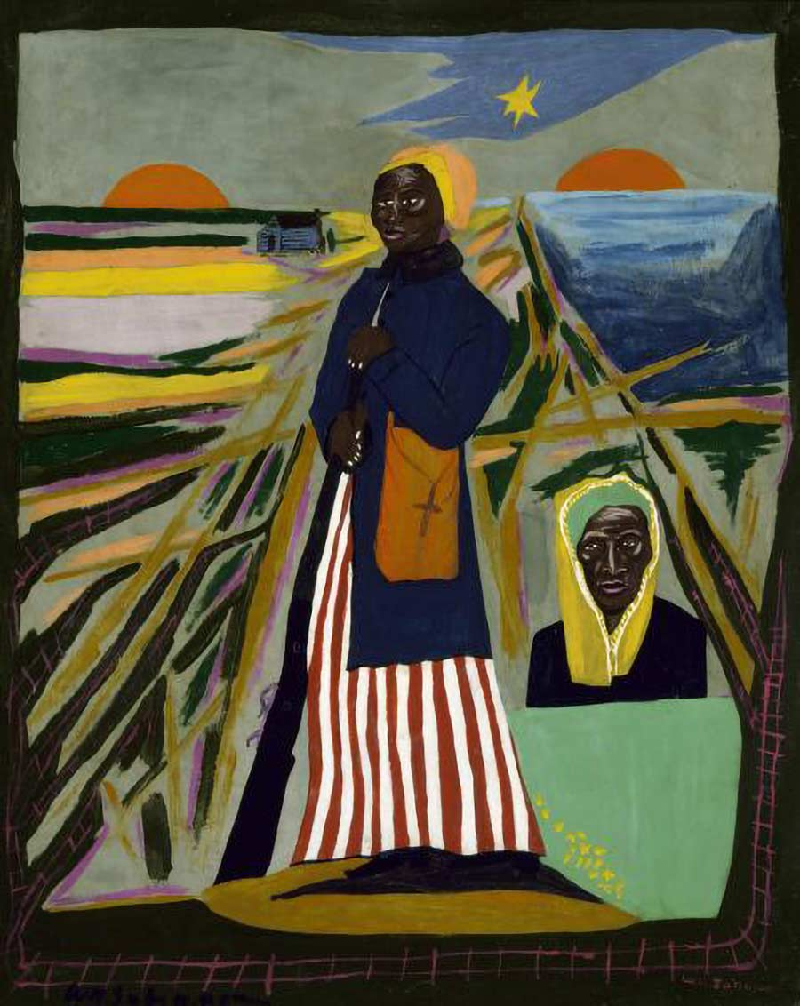 Harriet Tubman Painting by William H. Johnson at Smithsonian American Art Museum