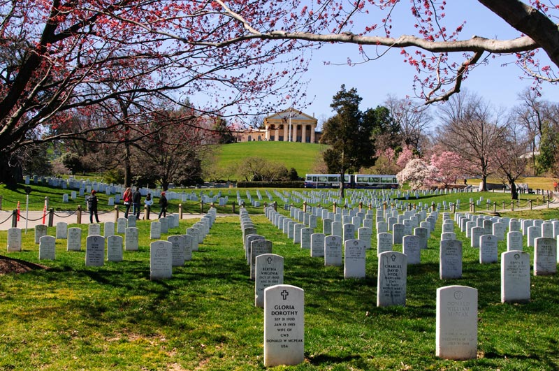 General Robert E. Lee's Arlington House and Gravesites at Arlington National Cemetery in Virginia