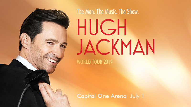 Hugh Jackman at Capital One Area on July 1, 2019