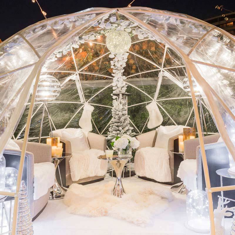 Winter Igloos at the Watergate Hotel - Whiskey Bar