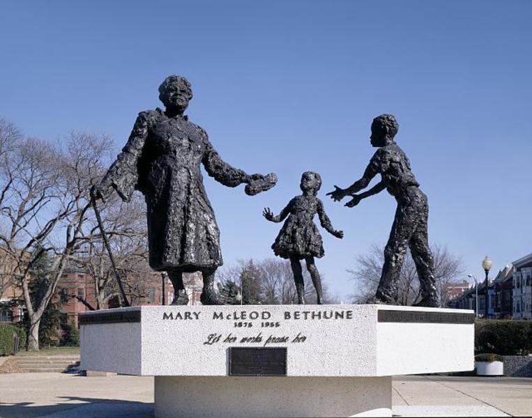 Mary Mcleod Bethune Statue Lincoln Park Washington Org