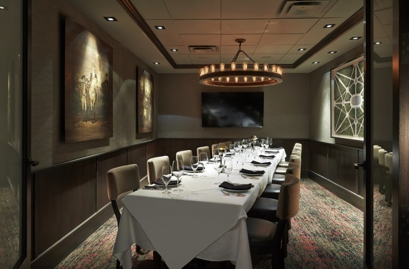 Mastro 39 s steakhouse for Best private dining rooms washington dc