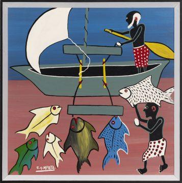 Water in African Art - Simon George Mpata 1942–1984, Tanzania, Untitled, 1971–73