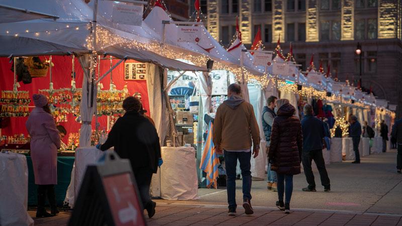 Downtown Holiday Market - photo by Interstellar Studios